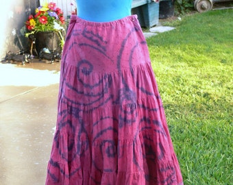 cotton hand dyed skirt size small