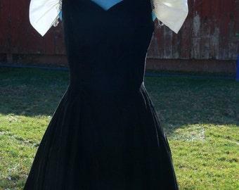 boned off the shoulder black eveing dress size 7-8