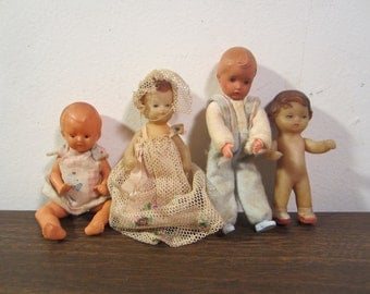 Vintage Basket Of Baby Dolls