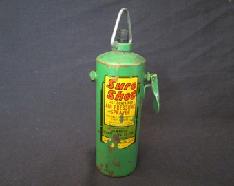 "Vintage ""Sure Shot"" self contained air pressure sprayer"