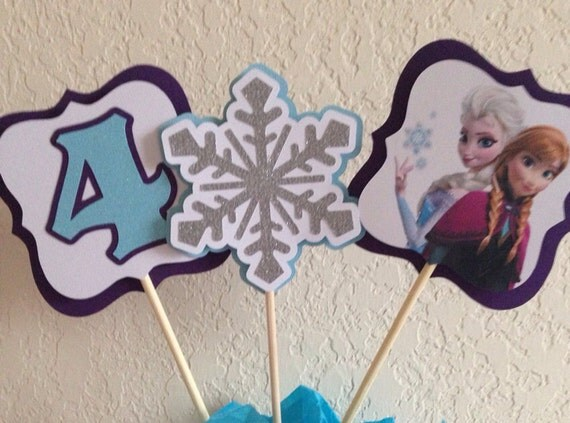 Frozen centerpiece, frozen characters, disney frozen birthday, frozen decorations