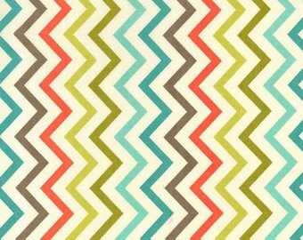 Michael Miller Fat Quarter Fabric for quilt or craft Mini Chic Chevron in Retro
