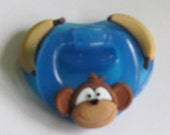 "Reborn  Magnetic Doll Pacifier, Cute Customized ""Monkey and Bananas"" Fisher Price w/Magnets and Instructions"
