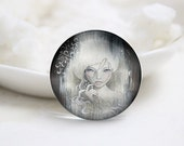 10mm 12mm 14mm 16mm 18mm 20mm 25mm 30mm Handmade Round Photo glass Cabochons Girl Image Glass Cover  (P2651)