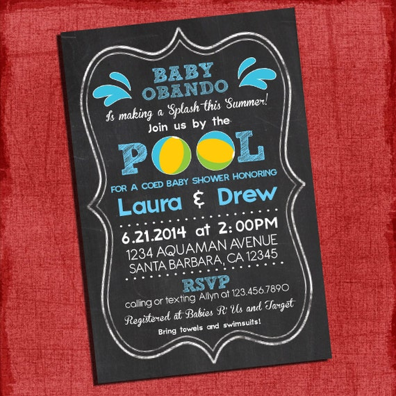 Pool Party Baby Shower Invitations was adorable invitation layout