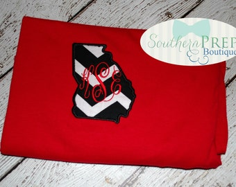 Monogrammed GEORGIA short sleeve tee, other designs available (long sleeve is also available)