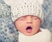 Crochet PATTERN - Crochet Hat Pattern - Lacy Baby Bear Crochet Hat Pattern -  4 Sizes Newborn to Adult - Photo Prop Pattern - PDF 203