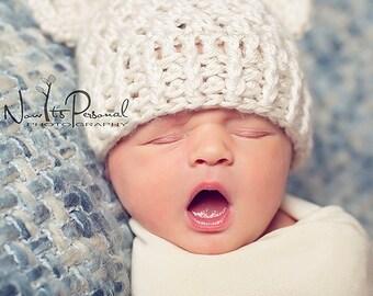 Crochet PATTERN - Crochet Hat Pattern - Teddy Bear Baby Hat Crochet Pattern -  4 Sizes Newborn to Adult - Photo Prop Pattern - PDF 203