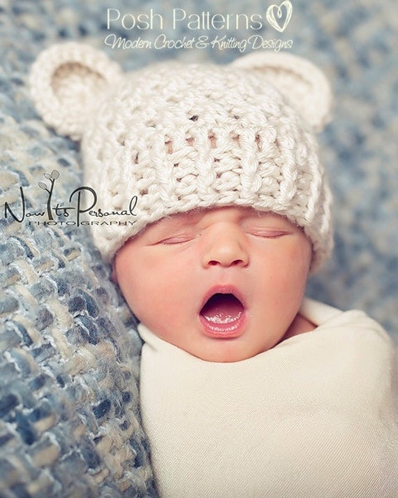 Crochet Baby Teddy Bear Hat Pattern : Crochet PATTERN Crochet Hat Pattern Teddy Bear Baby Hat