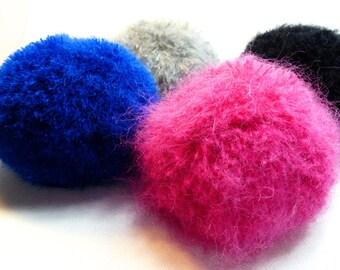 Pom pom Detachable Pompom Beanie Neon Pompom Bobble Beanie Chunky Beanie Beanie Hat Knit Beanie Neon Pom pom Fluffy Pompom Mohair Pompom Tam