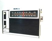 Radio boom box stereo speakers vintage solid state batteries cord Kmart