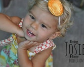 Yellow Poppy Headband - 100% Profit donation to the Garity Family