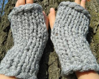 KNITTING PATTERN fingerless gloves, texting mitts, fingerless mittens, arm warmers