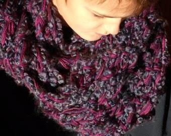 DISCOUNT PATTERN KNITTING Infinity Scarf Pattern, Chunky Knit