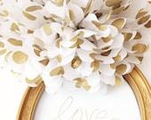 Gold Polka Dot Pom-Poms // Weddings // Metallic Gold // Polka Dots // Pom Poms // Photo Prop // Home Decor