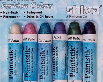 PAINTSTIK IRIDESCENT Full Size Set of 6 in FASHION Colors