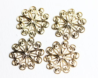 Filigree Flower Circles (4x)