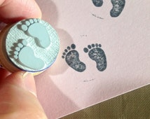Baby Feet Rubber Stamp SALE O004