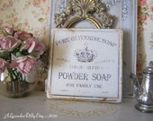 Vintage Powder Soap Sign for Dollhouse