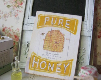 Honey Bee Sign/Print for Dollhouse