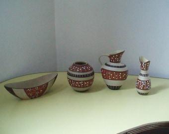 "Marzi&Remy ""Haiti"" Vintage Vases - Design by Georg Otto  Bühler"