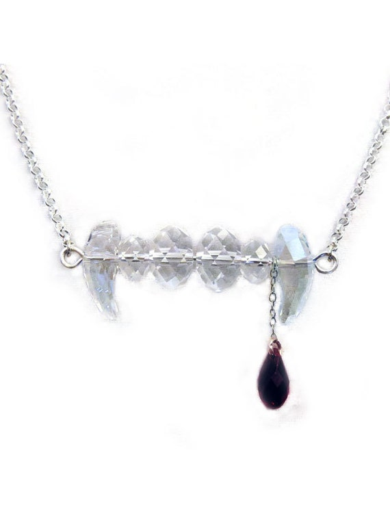 fang necklace swarovski jewelry