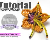 MicroMacrame flower pattern instant download PDF Digital File Tutorial Esquema