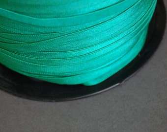 5yds -  Jade Green Satin Elastic