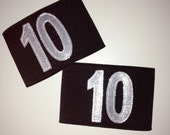 Numbered Elastic Armbands for Roller Derby - Custom colours and size