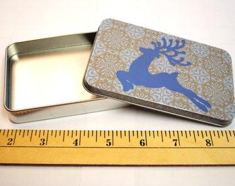 Christmas Reindeer Themed Craft Tin