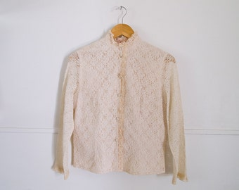 womens vintage lace long sleeved shirt