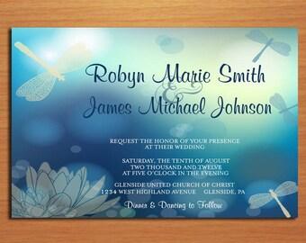 Dragonfly Wedding Invitation PRINTABLE / DIY