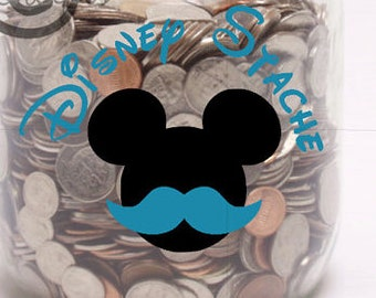 Disney Stache- Vinyl Wall Art