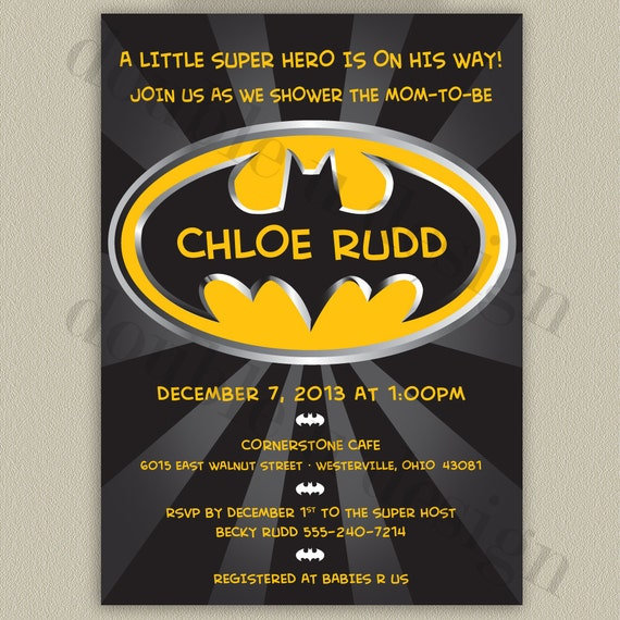 batman baby shower invitations batman printable baby shower