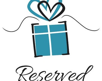 Reserve GIFT CERTIFICATE and amount. . .message me