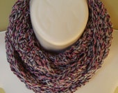 infinity scarf, shades of pink and grey crochet scarf, skinny scarf, skinny infintiy scarf, eternity scarf, loop scarf
