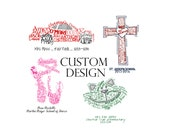 Custom Shape Design, multiple sizes