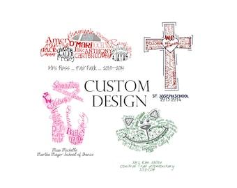Custom Shape Design, multiple sizes
