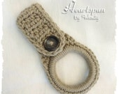 Taupe Brown dish towel or hand towel ring holder, great for holding towels and more in the kitchen, bathroom, garage, laundry, nursery