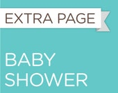 Extra Baby Shower Info Sheet for the Baby Steps Book