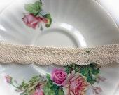 Reneabouquets Trim- Natural Cotton Crochet Cluny Lace 003, Vintage Lace, Wedding Trim, Sewing, Scrapbook, crafts