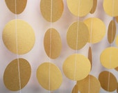 Gold Birthday Decorations - Paper Garland, gold garland, party decor