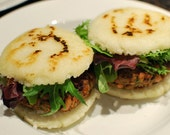 Arepas, Grilled, Columbian Style,  Ricotta Cheese, Mozarella Cheese, Vacuum Sealed