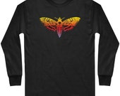 LS Deaths Head Hawkmoth T-shirt - Long Sleeve Tee - Horror Fantasy - Men and Kids - S M L XL 2x 3x 4x - 4 Colors