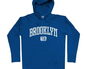 Brooklyn 718 Hoodie - Men S M L XL 2x 3x - Brooklyn Hoody Sweatshirt - NYC - New York City - 4 Colors