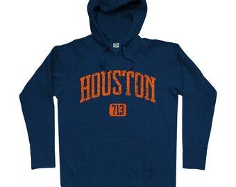 Houston 713 Hoodie - Men S M L XL 2x 3x - Houston Texas Hoody Sweatshirt - 4 Colors