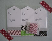 set of 15 christmas gift tags