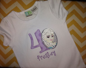 Elsa Birthday Shirt - Inspired by Frozen - Princess Birthday