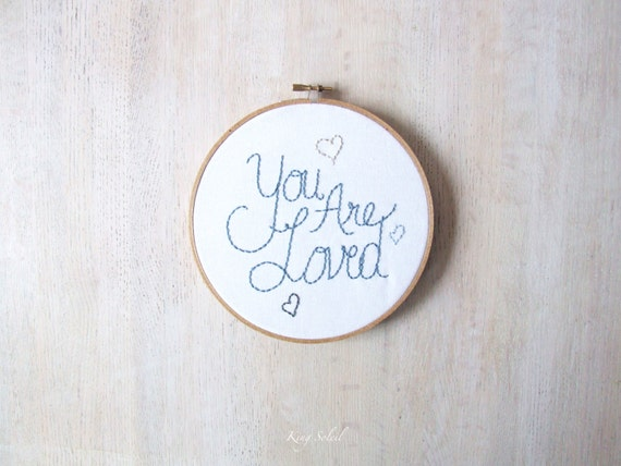 You Are Loved Embroidery Wall Art