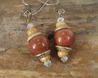 Dangling Bullet Earrings - Federal 40 S&W and Beads